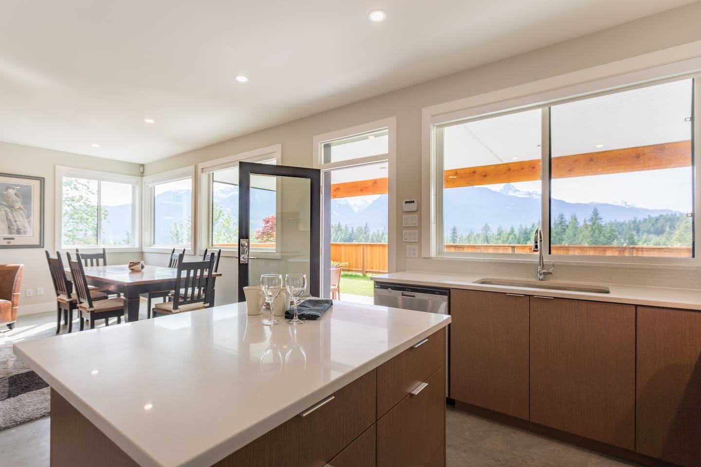 Welcome to our bright Squamish home with views across and down the Squamish Valley.