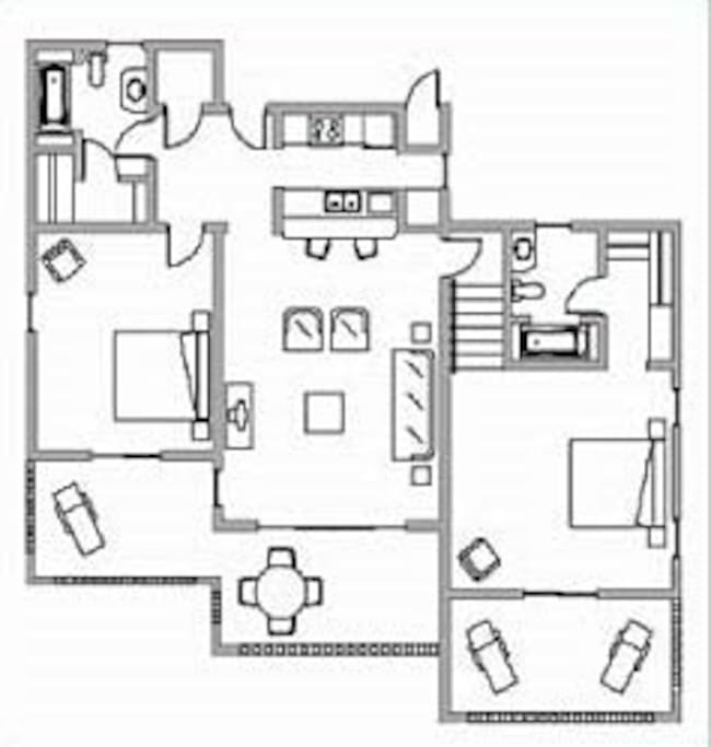 Floor plan of the condo