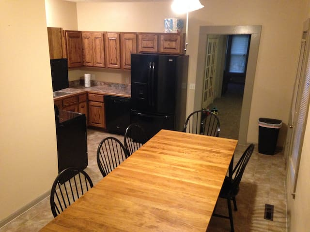 Eat-in kitchen with seating for 10, plus a high chair