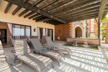 The extended outdoor patio is the perfect space to entertain your family & friends