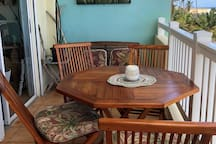 Balcony Bistro dining table for morning breakfast or romantic dinner