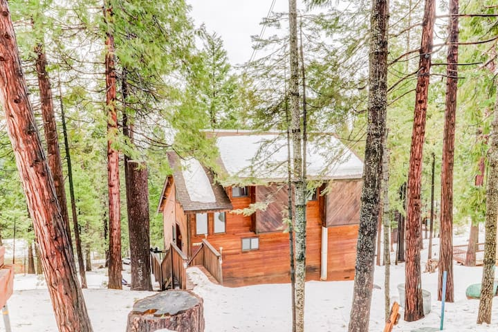 Cozy, secluded cabin w/ community tennis & lake beach - plus gas grill & deck!