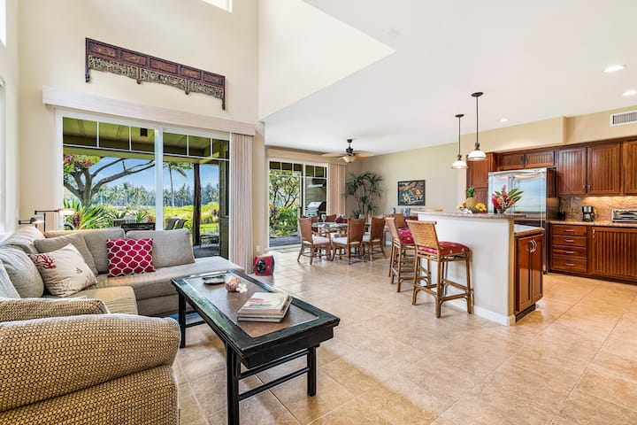Waikoloa Beach Villas I1 - NEW  Amazing 3 Bedroom w/Golf Views & BBQ!!