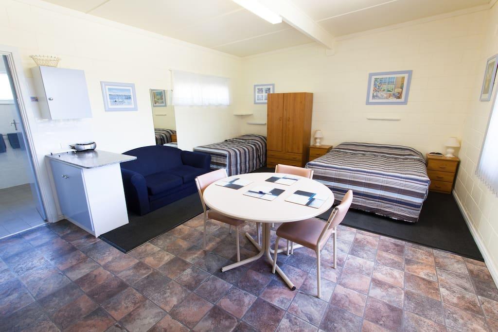 Spacious comfortable clean studio apartment