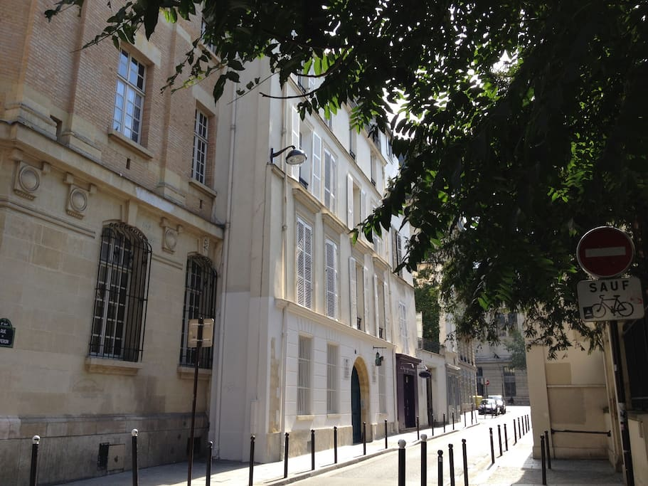 Very quiet street close to st Germain boulevard