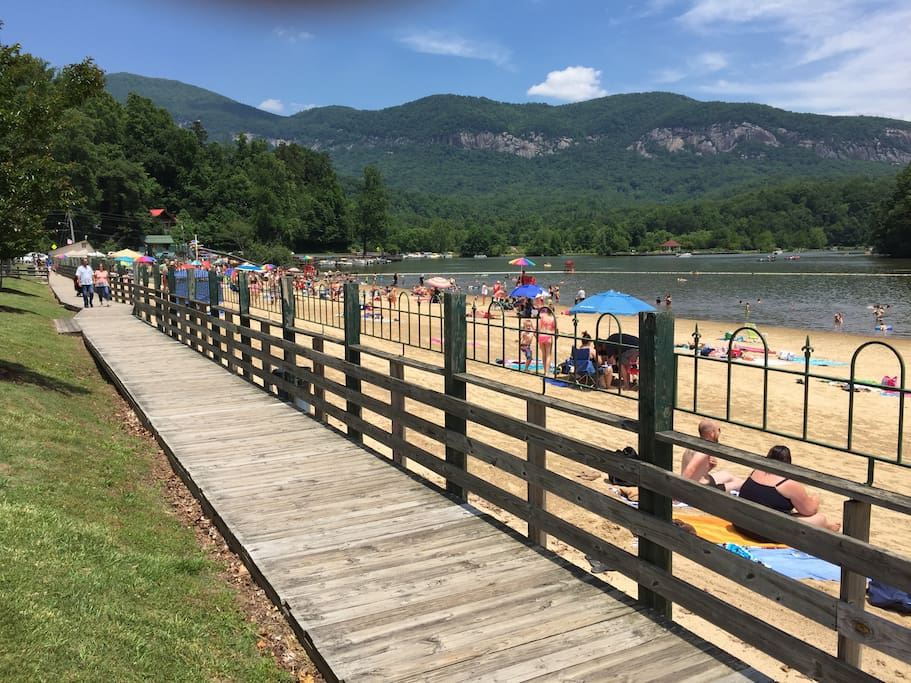 Lake Lure Beach open Memorial to Labor day.