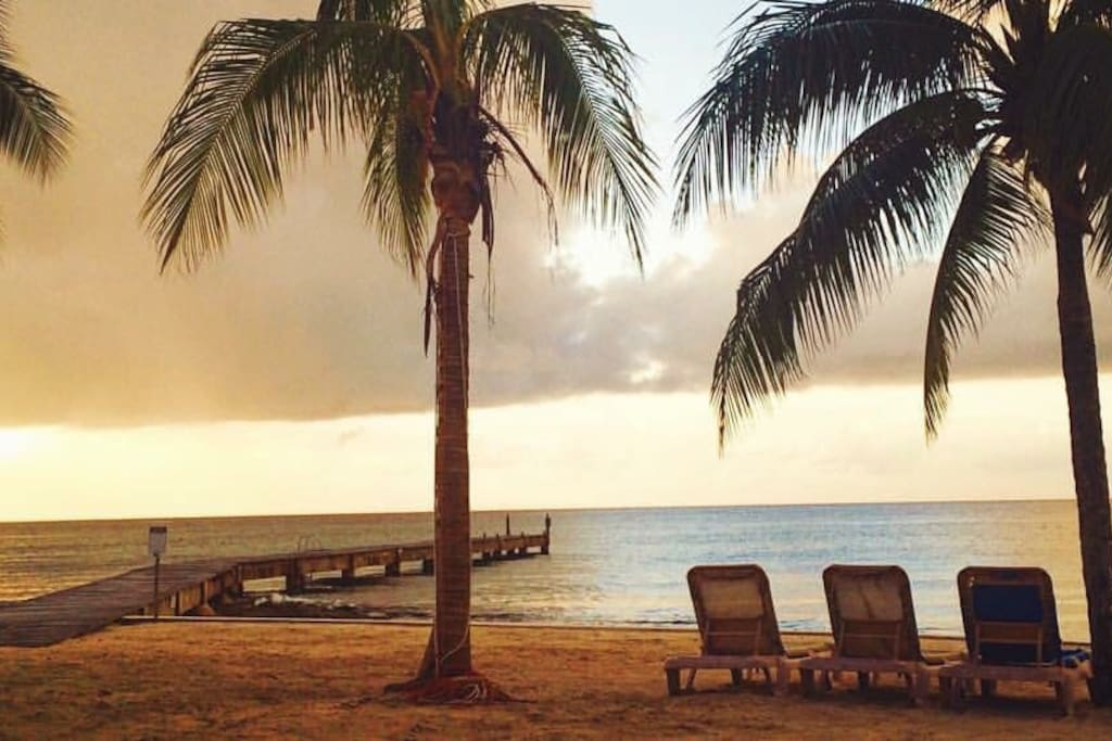 Great sun sets from your Private Beach