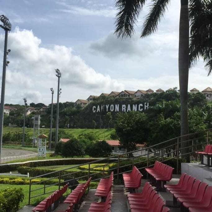 San Lazaro Leisure Park with the view of Canyon Ranch Sign