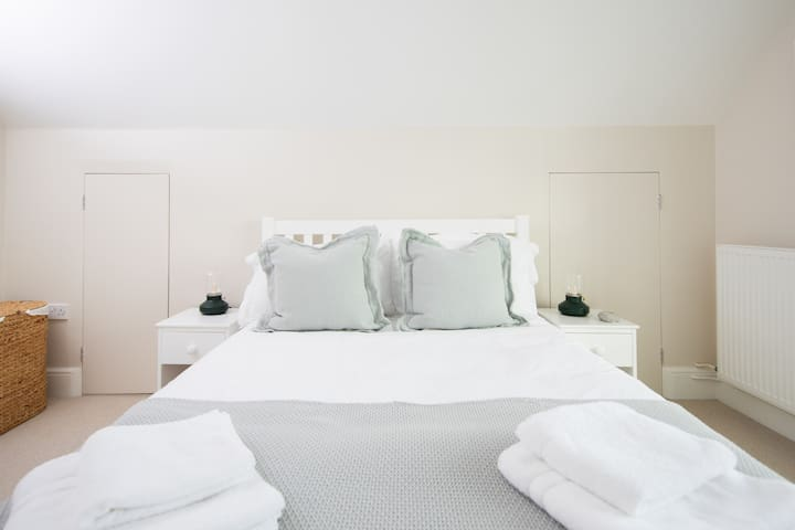Your beautifully presented double bed.