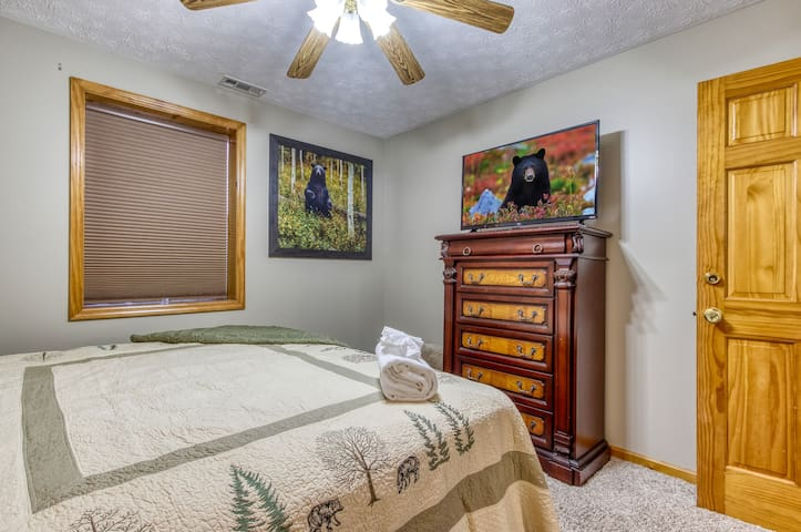 This is the third bedroom, and it has a king  bed too.