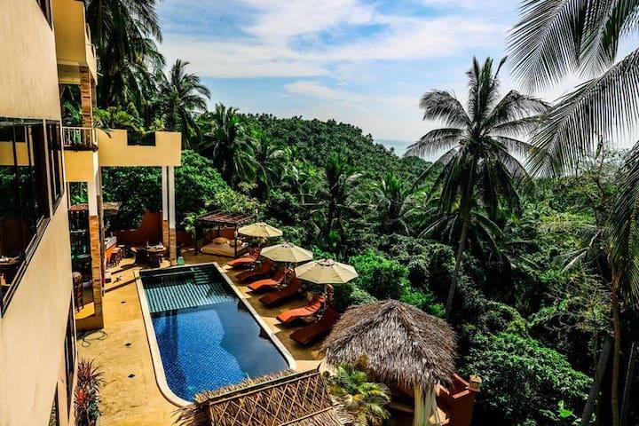 Samui Green Palm Resort Seaview Deluxe Studio