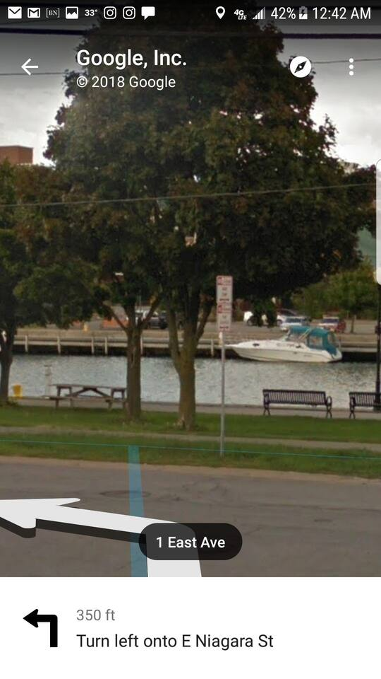just a few steps away from the property your can sit back, picnic and watch the boats cruise the Erie Canal.