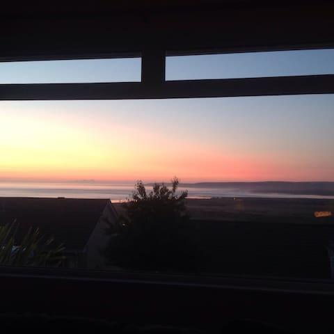 sunset from breakfast room