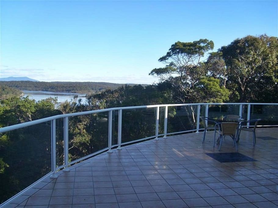 Back veranda view overlooking Tuross River