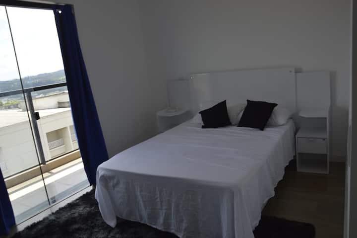 Suite Privativa  com ar em Aparthotel em Atibaia