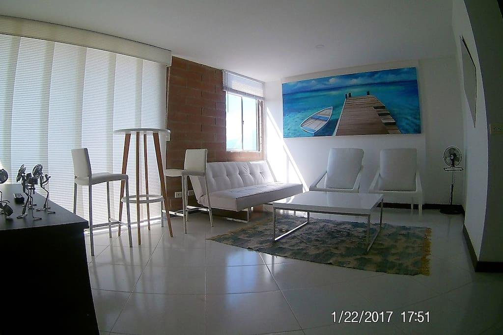 Livin room, Cable TV full HD Sound Sala de estar ,TV , cable TV y sonido