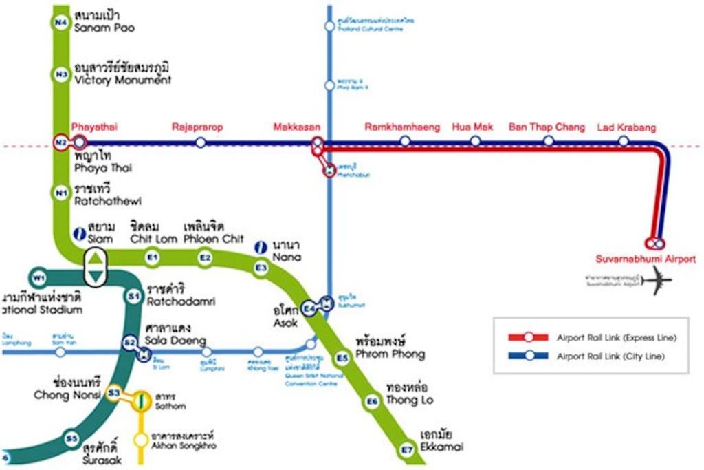 BTS sky train map.