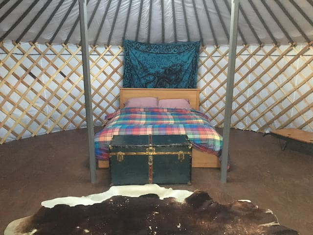 Grey Mongolian Yurt on 200 acre biodynamic farm