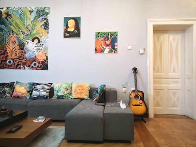 Hostel Hill in Center of city. Belgrade.green room