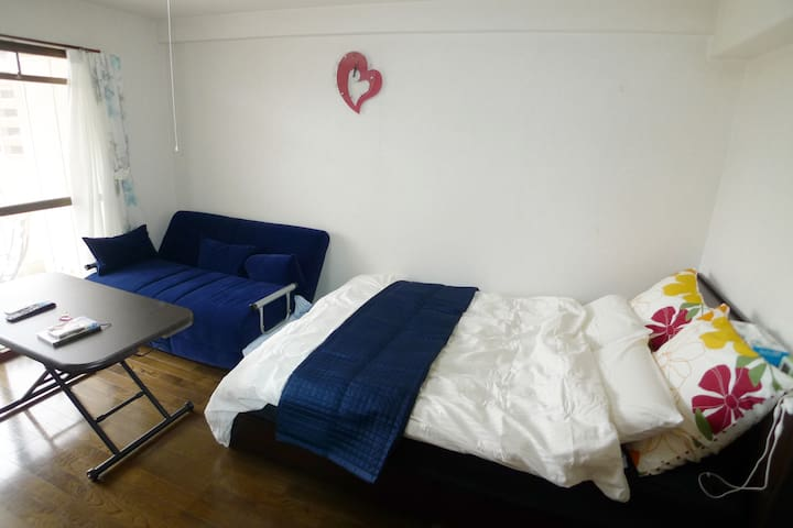 500mBehind Central station.6F Free parking.carrent - Kagoshima-shi - Wohnung