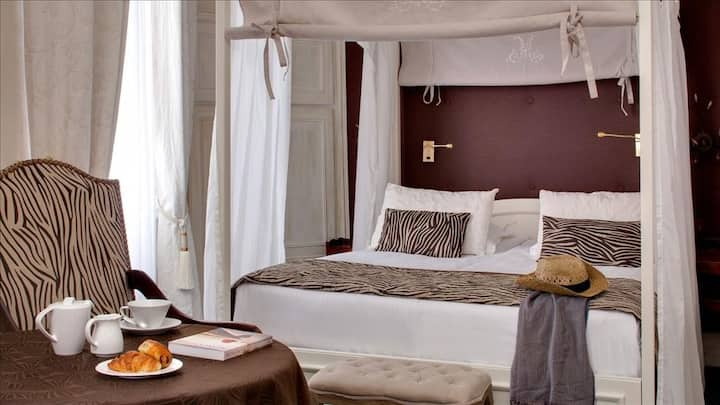 Baldachin romantic double room **** with breakfast