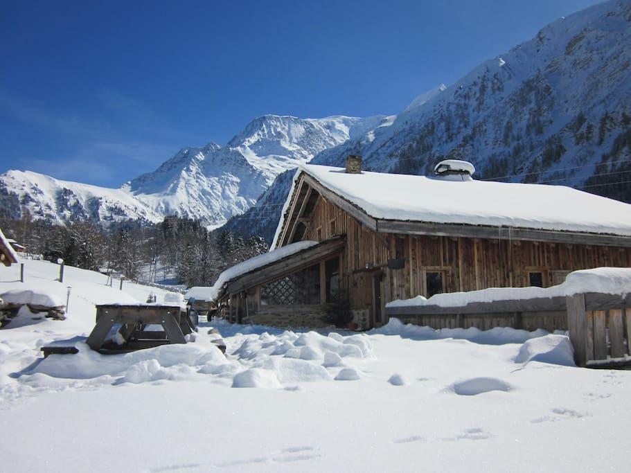 Au pied du Mont-Blanc...