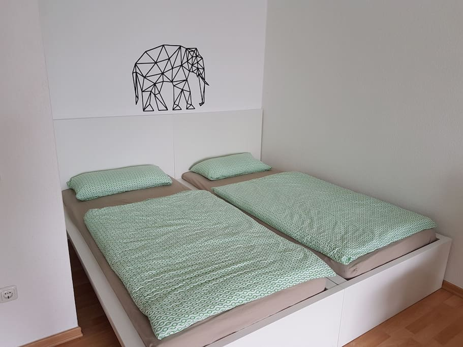double bed or two single beds