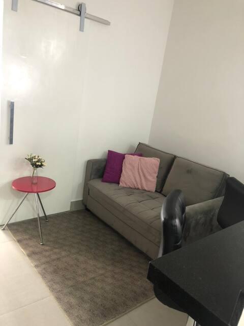 Apartamento Studio moderno Praia de Itararé