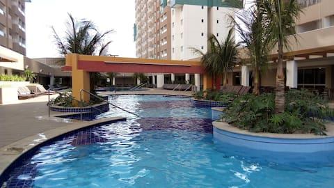 Olímpia park resort - Apartamento p/ até 6 pessoas