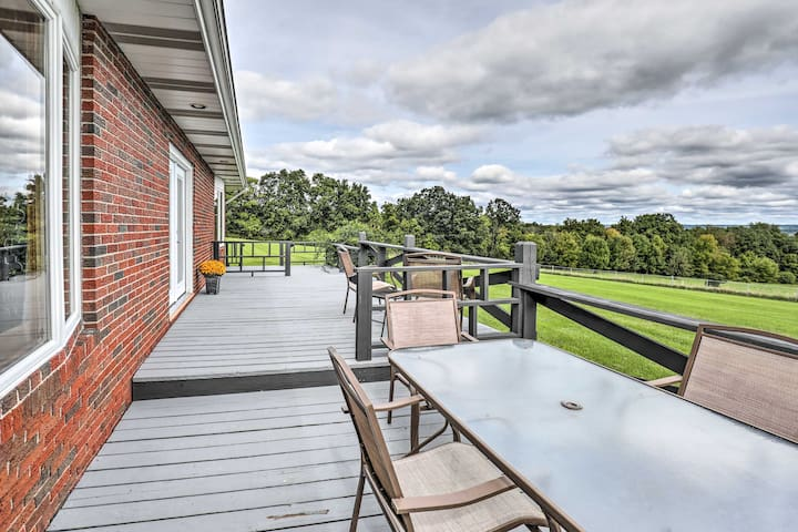 This home sits on top of a hill and overlooks Cayuga Lake.