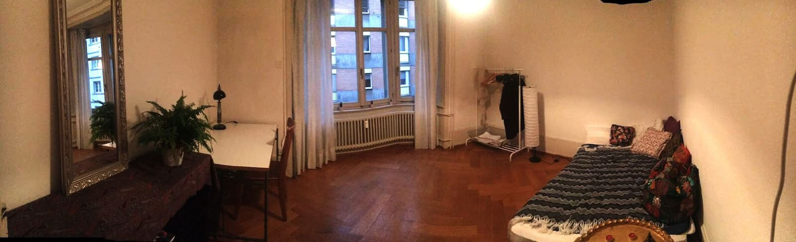 Bright private room in beautiful St. Alban (Basel)