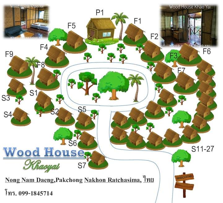 Wood house Family2 Close to Thanarat Road, KM. 6