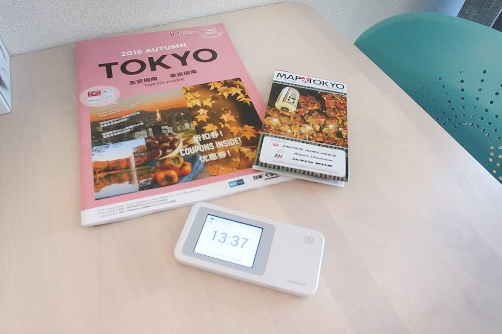Pocket wifi and Guides