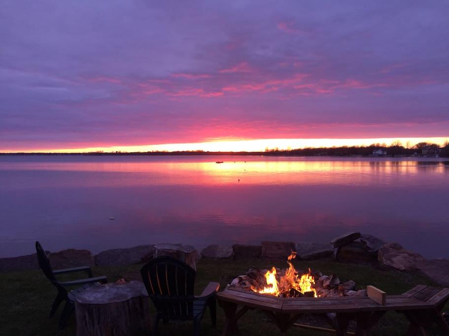 One of the many amazing sunsets