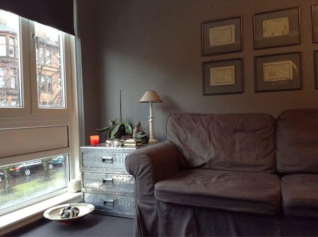 Stunning Luxury stylish flat West End Glasgow 2pax