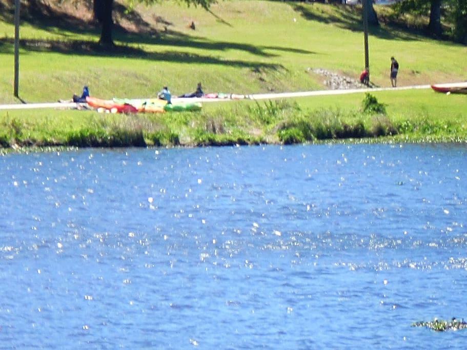 Lake Olmsted- enjoy hiking, biking, kayaking and disc golf!