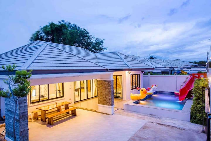 ✰Napasorn Pool Villa 3BR, 15mins to Beach