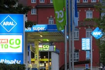 Very close to your apartment is a gas station with complementary small super market - extra long opening hours
