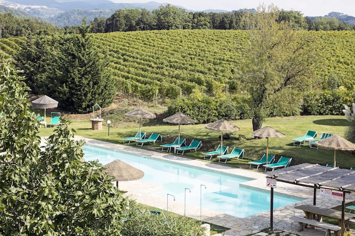 Apartment in Tuscan Estate with Pool, Garden and Wi-Fi