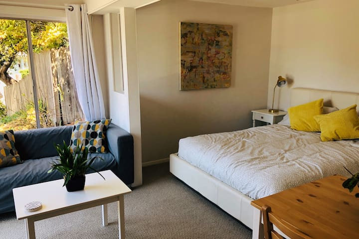 Modern, sunny studio in prime Oakland location