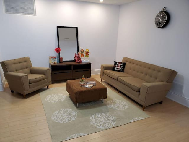 Private Room in a Clean & Specious Basement