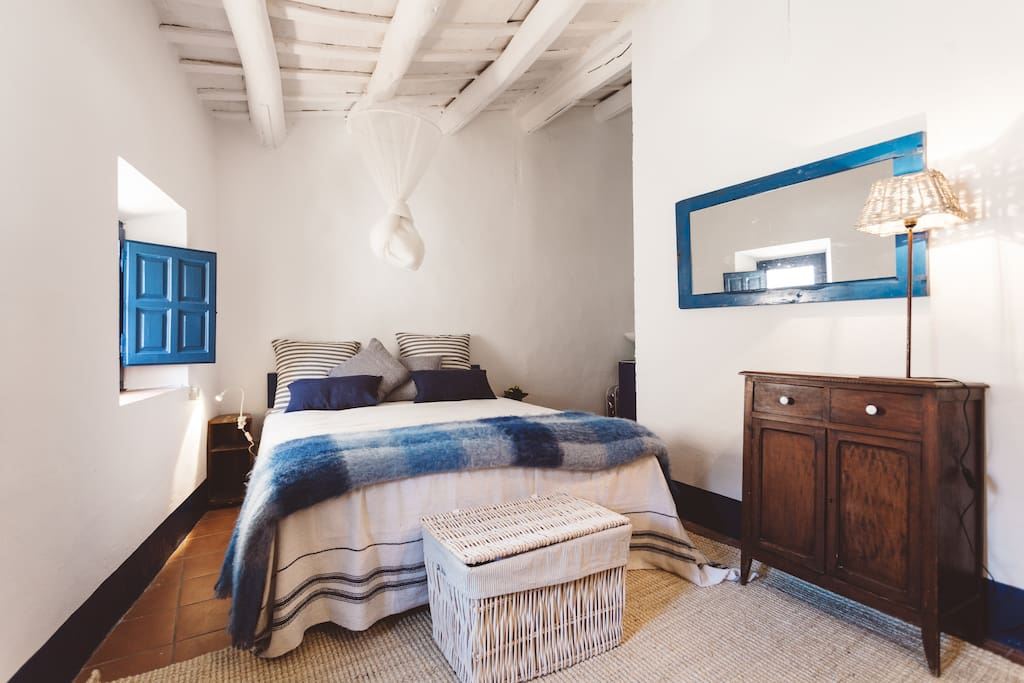 The bedroom of an authentic fisherman's house. Begur. Costa Brava.