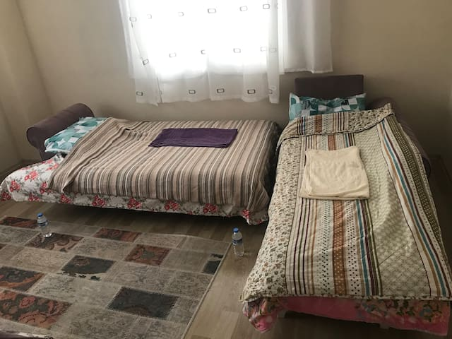 Beds in Living Room and special place to my guests