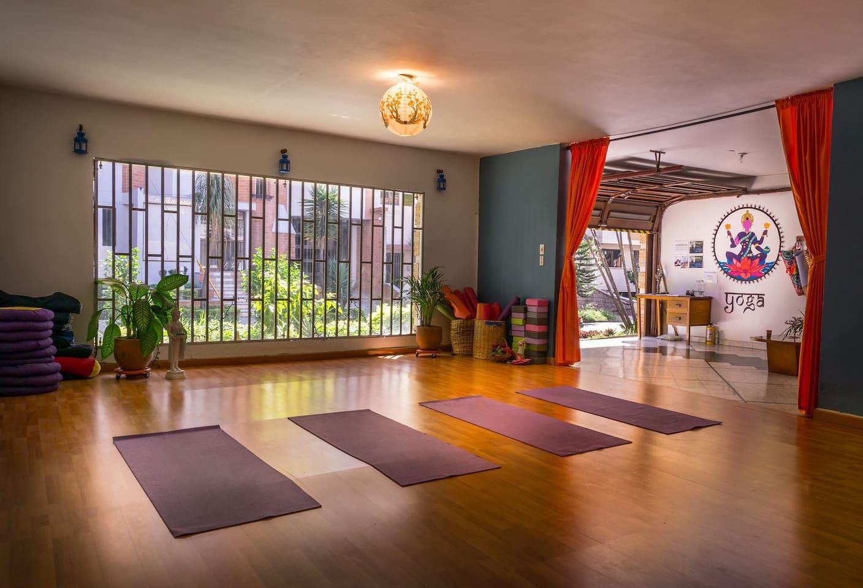 Yoga practice space