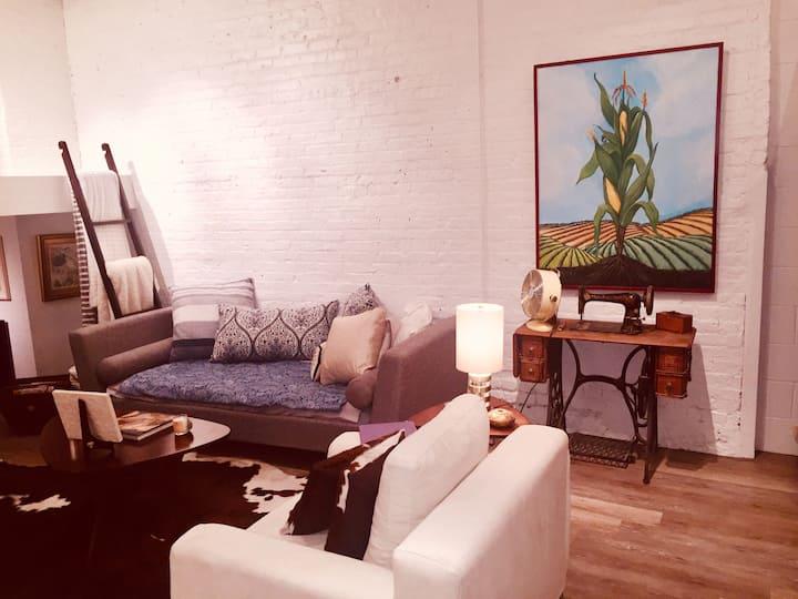 Studio artist's loft space