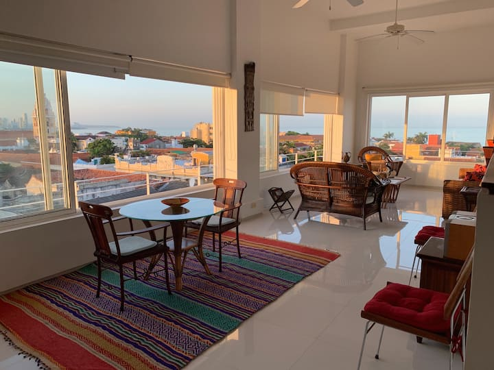 Loft type, location & views within the old town.