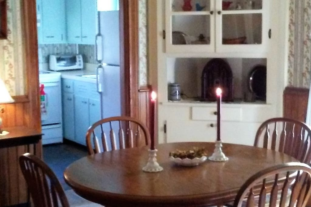 Bright and cheery kitchen/dining areas
