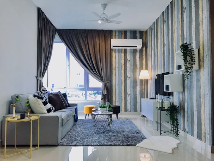 Malacca | Kenanga Residences Modern Suite! [8 Pax]