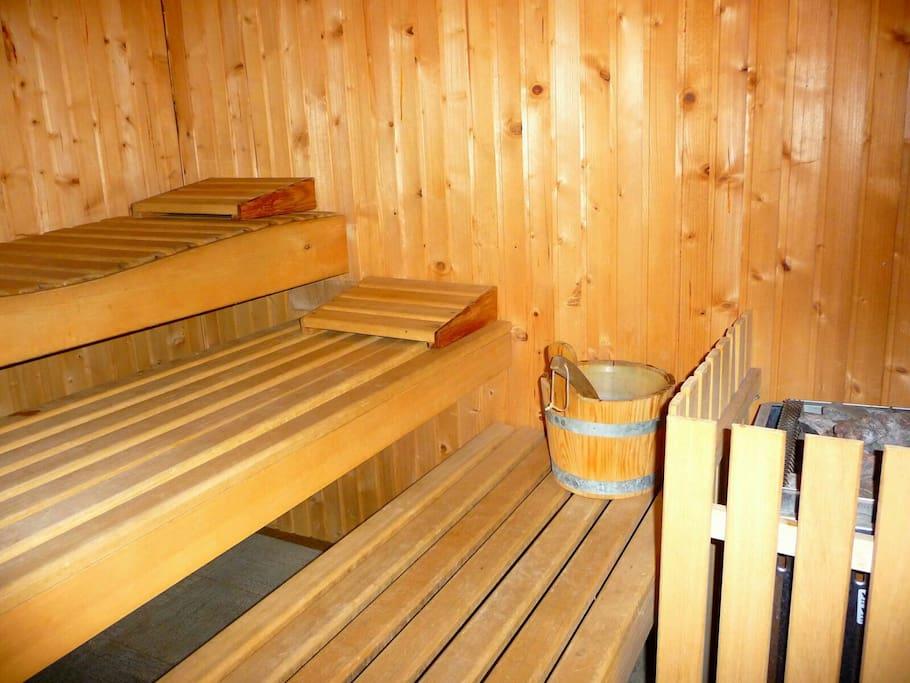 Sauna accessible toute l'année