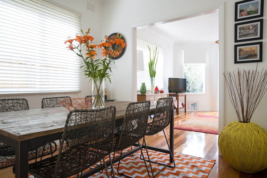 Enjoy this beautiful sun drenched dining room
